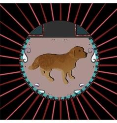 Golden Retriever dog vector image vector image