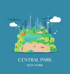 new york landmark central park vector image