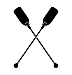Pictogram paddles crossed boat tool vector