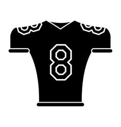 silhouette american football jersey uniform tshirt vector image