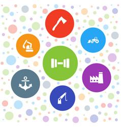 7 heavy icons vector