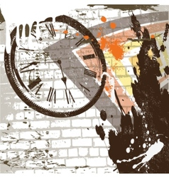 abstract grunge wall background vector image vector image