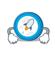 Angry stellar coin character cartoon vector