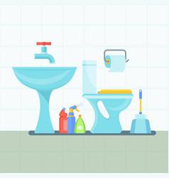 bathroom interior flat vector image