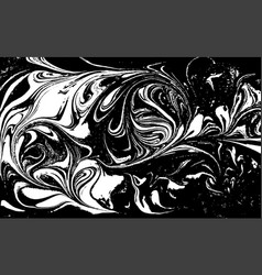 black and white liquid texture hand drawn vector image
