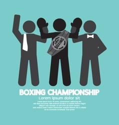 Black Symbol Boxing Championship vector image