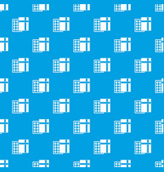box with chocolates pattern seamless blue vector image