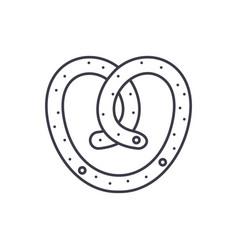 bun line icon concept bun linear vector image