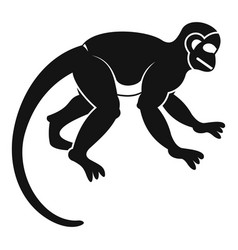 capuchin monkey icon simple style vector image