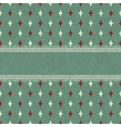 Card with Seamless Geaometric Pattern vector image