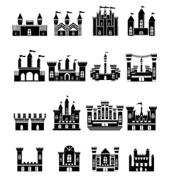 Castle Icons Set vector image