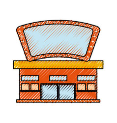 Cinema building cartoon vector