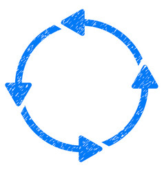 Circular route grunge icon vector