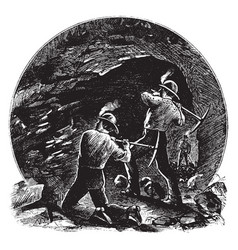 Coal mine vintage vector