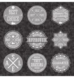 Collection of hipster vintage business labels with vector image