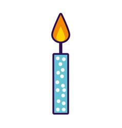 cute birthday candle cartoon vector image