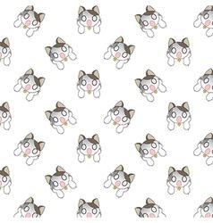 Cute Cartoon Cats Pattern vector image