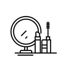 decorative cosmetics line icon concept sign vector image