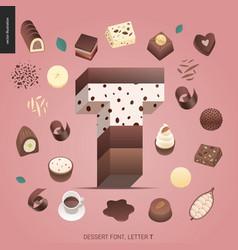 Dessert temptation font vector