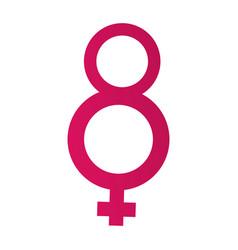 female gender symbol vector image