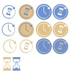 flat time set icons clock set icons vector image