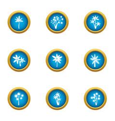 Floret icons set flat style vector