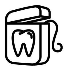 Floss icon outline style vector
