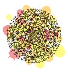 flower mandala oriental ethnic circular ornament vector image
