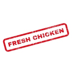 Fresh Chicken Text Rubber Stamp vector image
