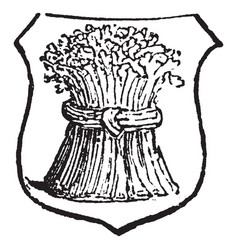 Garbe is a heraldic term for a sheaf of any kind vector