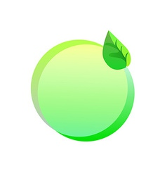 Green eco sticker on a white background vector image vector image