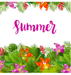Green summer tropical background vector