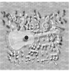 Guitar on a blurred background vector image