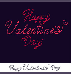 happy valentine s day handwritten text for vector image