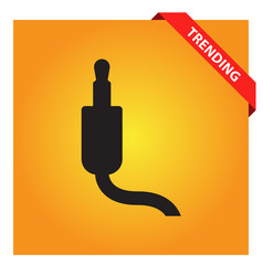 Jack audio cable icon vector