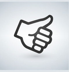 like thumb up icon flat design isolated on modern vector image