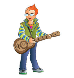 male guitarist vector image