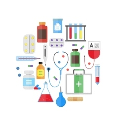 Medical Healthcare Equipment Round Design Template vector