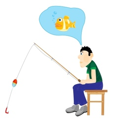 men thinking about fishing vector image vector image