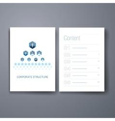Modern business organisational chart hierarchy vector