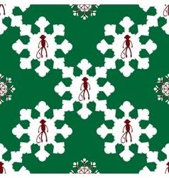 monkey symbol New year seamless pattern vector image