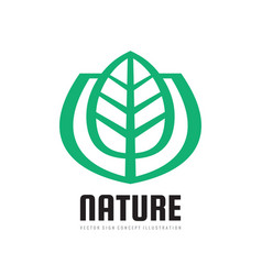 Nature logo template concept vector