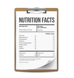 nutrition facts blank template serving vector image