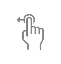 One-touch and swipe left line icon touch screen vector