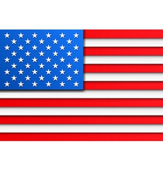 Paper USA flag vector image