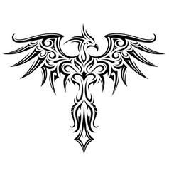 Phoenix tattoo shape vector