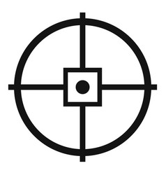 Point gun aim icon simple style vector