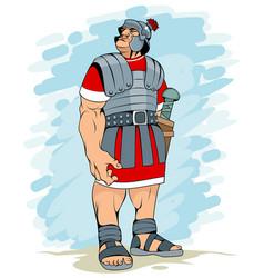 portrait a roman legionary vector image