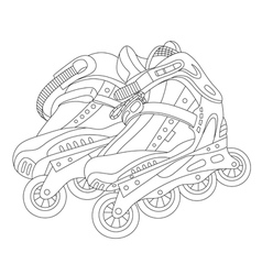 Roller skates 02 vector