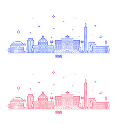 rome skyline italy city buildings vector image